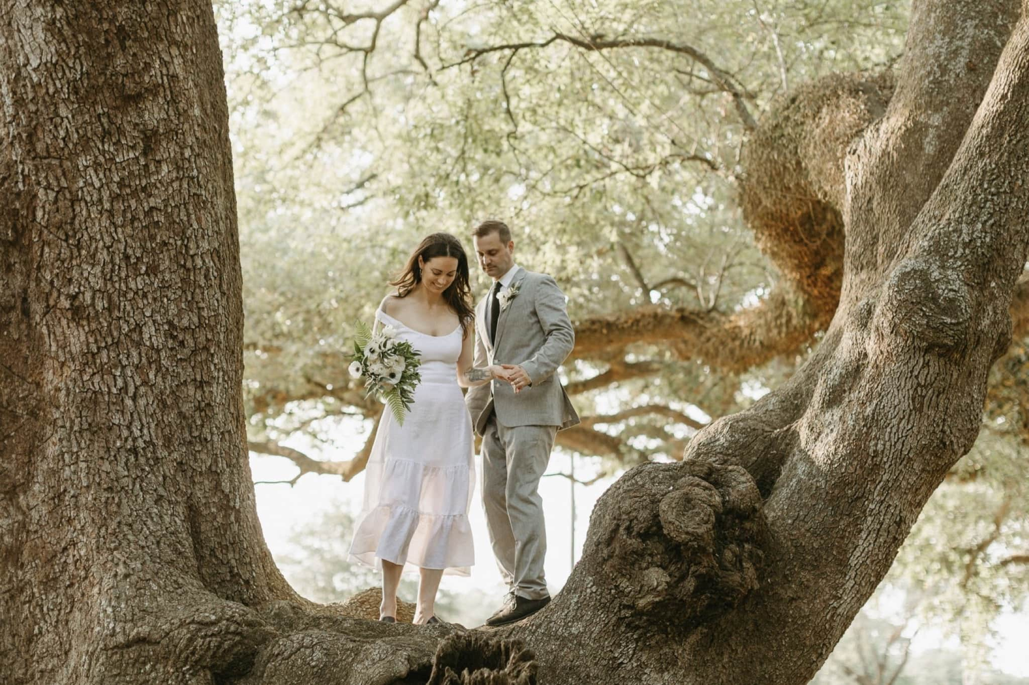New Orleans City Park Elopement