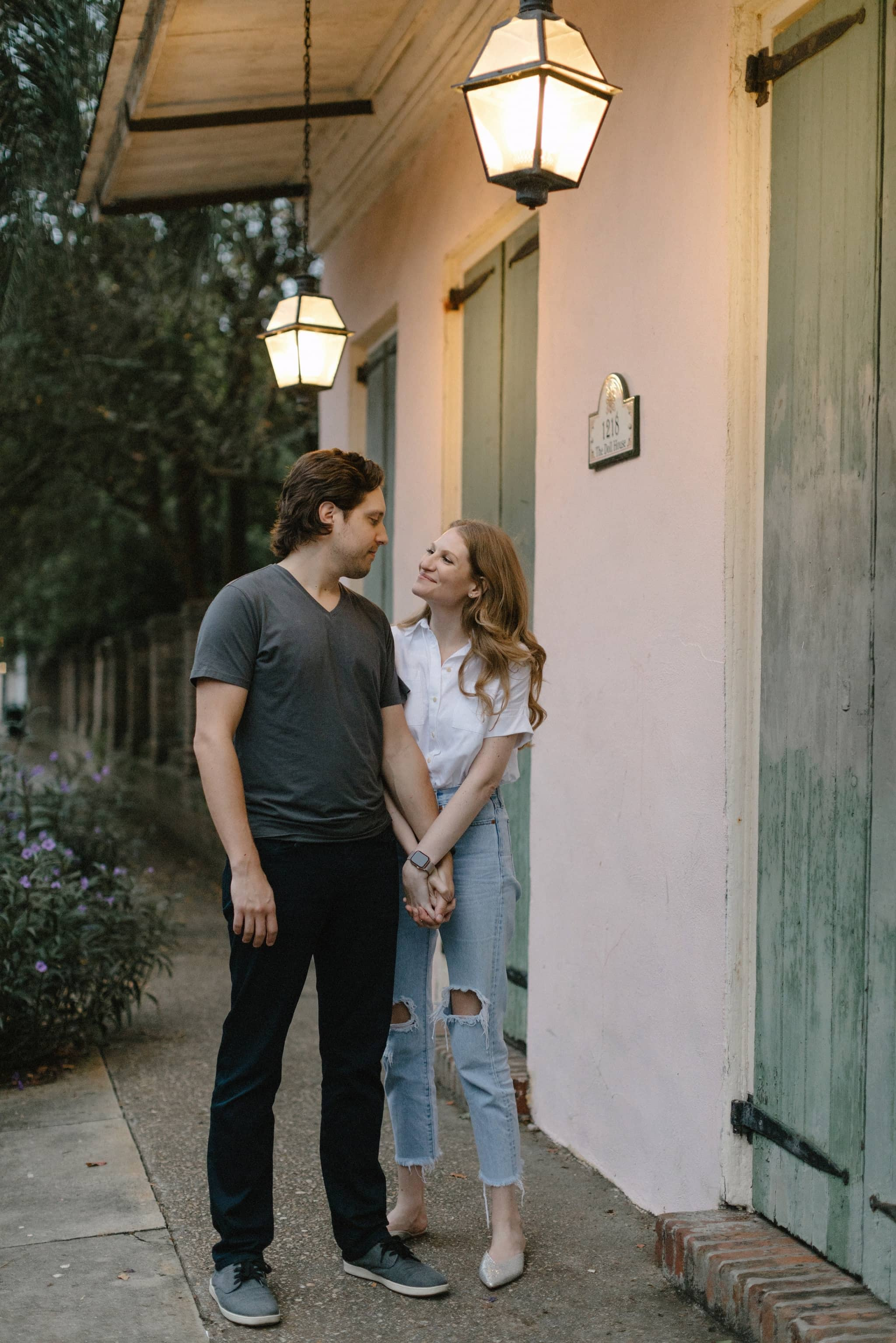 Cloudy Casual French Quarter Engagement Session