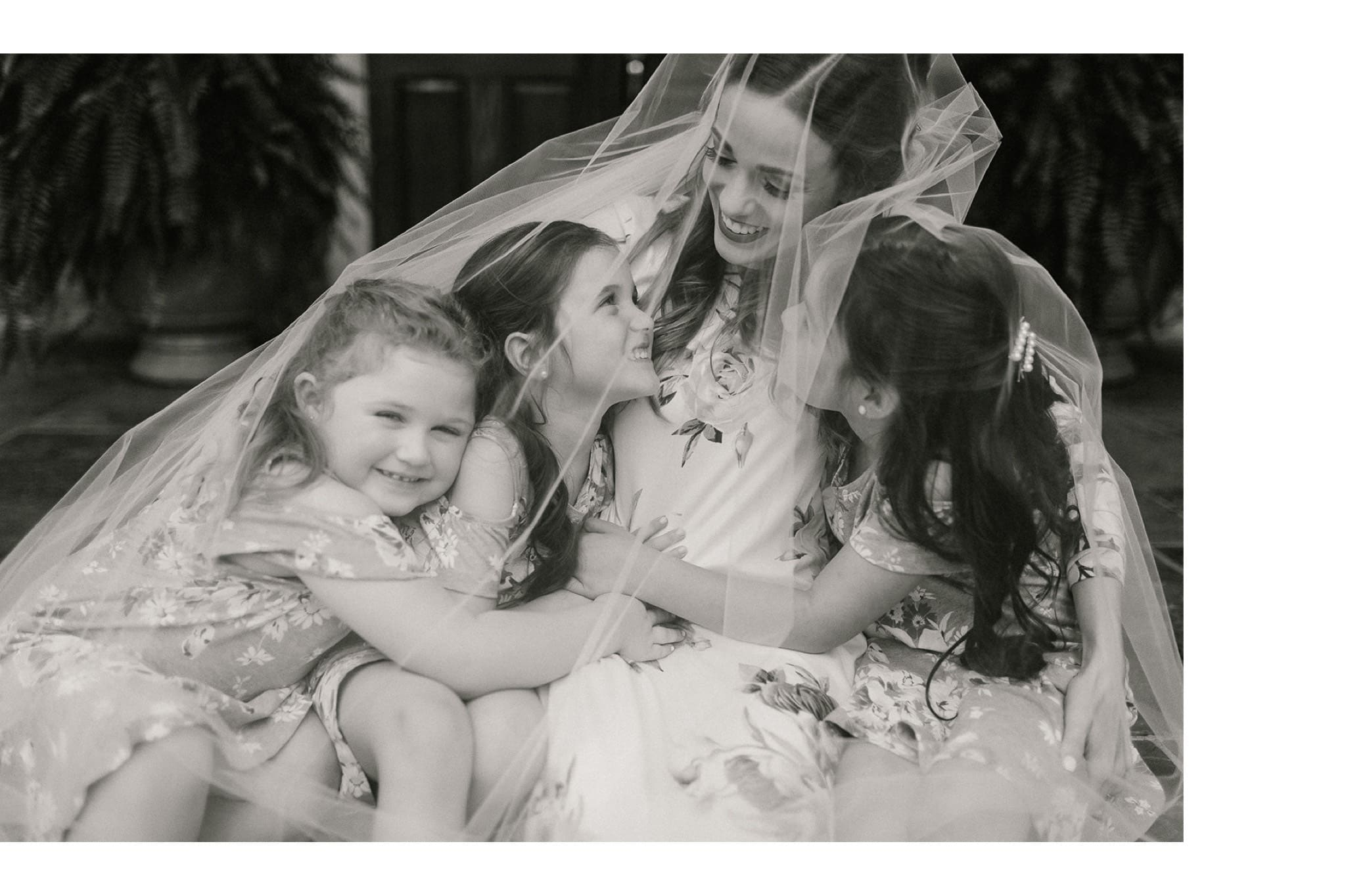 wedding day moments with guests