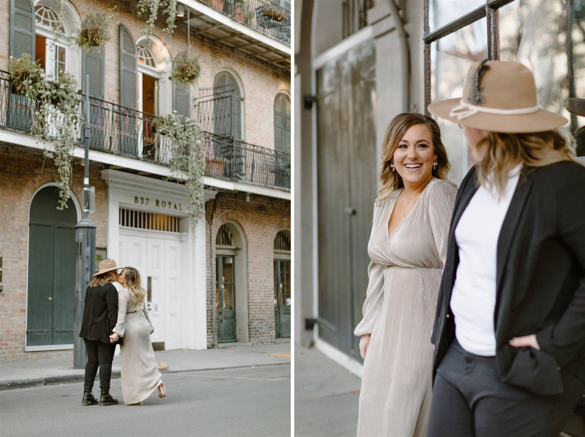 Winter French Quarter Engagement Session